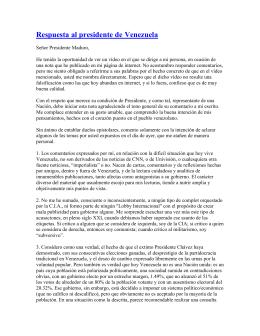 Respuesta de Blades al presidente de Venezuela