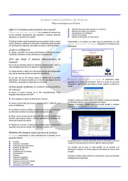 Folleto Sistema Administrativo de Avaluos 2006