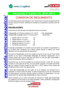 Segunda Comisión de Seguimiento