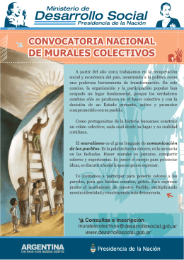 Convocatoria Nacional de Murales Colectivos (folleto)