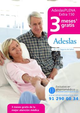 Folleto Adeslas Extra 150