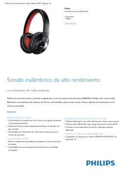 Product Leaflet: Auriculares estéreo Bluetooth negros supra