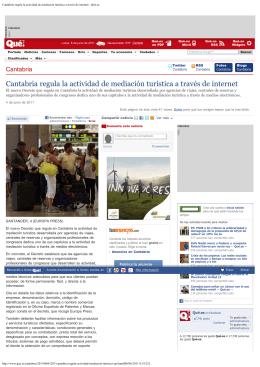 Cantabria regula la actividad de mediación turística a través de