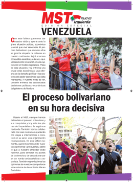 Folleto del MST (A) sobre Venezuela Feb 2014