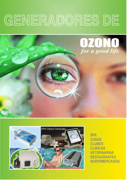 Folleto Generador Ozono
