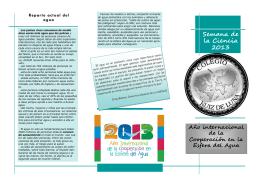 Folleto Semana de la Ciencia 2013-14