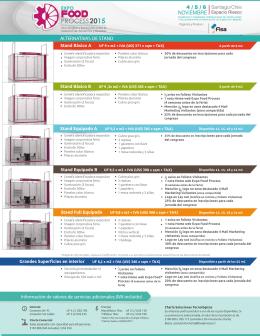 ALTERNATIVAS DE STAND - Expo Food Process 2015