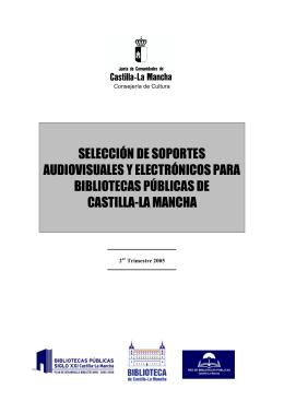 selección de soportes audiovisuales y electrónicos para