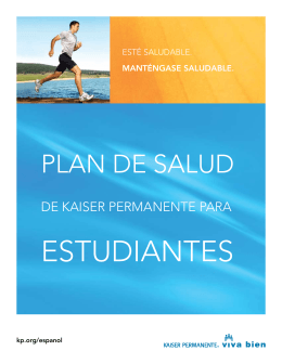 Kaiser Permanente Student Health Plan HMO Spanish