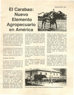 Folleto El Carabao - Biblioteca Digital Zamorano