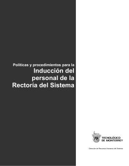 Políticas de Inducción - Tecnológico de Monterrey
