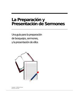 La Preparación y Presentación de Sermones