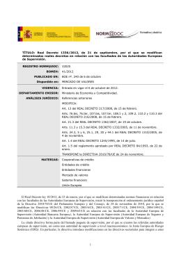 Real Decreto 1336/2012, de 21 de septiembre, por el que se