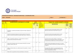 cronograma de la asignatura descripción del contenido de la sesión