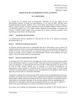 SESIÓN 02-02 DE LOS REPRESENTANTES ALTERNOS