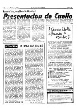 dé Cuello - - Mundo Deportivo