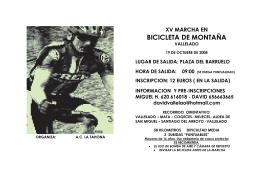 xv marcha en bicicleta de montaña