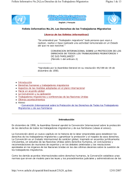 Página 1 de 13 Folleto Informativo No.24,Los Derechos de los