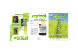 Folleto AGRICOL_in - Agrovet Catalysis