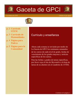GPCI GAzette