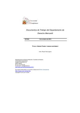 Documentos de Trabajo del Departamento de Derecho Mercantil