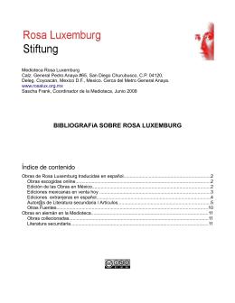 Mediografía sobre Rosa Luxemburg