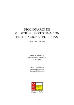 diccionario de medición e investigación en relaciones públicas