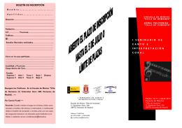 Folleto Informativo y Boletín de Inscripción