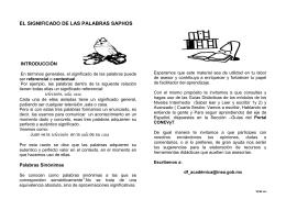 EL SIGNIFICADO DE LAS PALABRAS SAPHOS