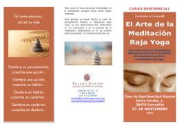 """CURSO residencial """"El arte de la Meditación"""