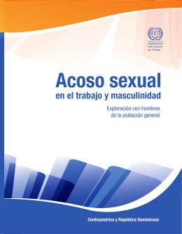 Acoso sexual en el trabajo y masculinidad. Exploración