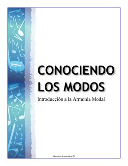 CONOCIENDO LOS MODOS