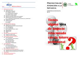 Folleto Proyecto Atención a la Infancia 2014