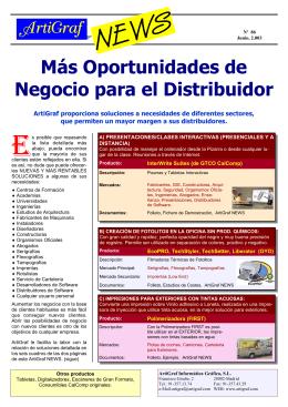 Más Oportunidades de Negocio para el Distribuidor