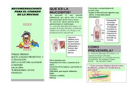 Enfermeria / Recomendaciones para el cuidado de la mucosa