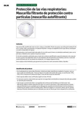 Mascarilla filtrante de protección contra partículas