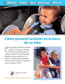 cómo prevenir lesiones en la boca de su niño