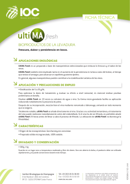 FT ULTIMA FRESH (ES) - Institut Oenologique de Champagne