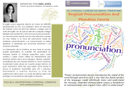 folleto curso pronunciación - Escuela Universitaria Cardenal