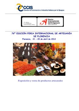 Exposición y venta de productos artesanales