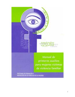 Manual de primeros auxilios para mujeres víctimas de violencia