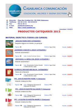 productos catequesis 2013