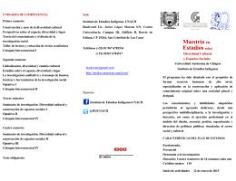frente folleto - Maestrías en Estudios sobre Diversidad Cultural y