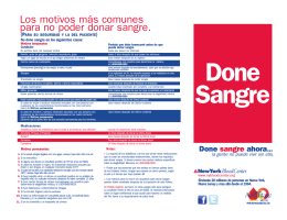 Done Sangre - New York Blood Center