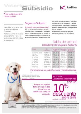 Folleto Informativo y Cuestionarios Veterinarios Subsidio