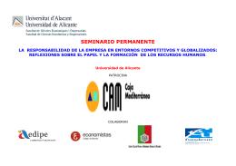 FOLLETO DEL SEMINARIO - Programas de Máster y Experto de la