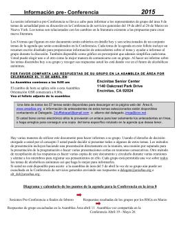 Información pre- Conferencia 2015