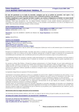 CAJA MADRID RENTABILIDAD TRIENAL, FI