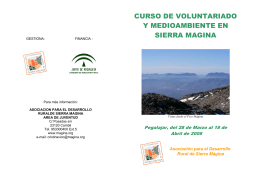 folleto curso sobre voluntariado y medioambiente