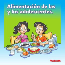 Folleto: Alimentación de las y los adolescentes